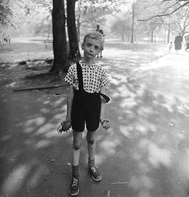 Child with a toy hand grenade in Central Park, N. Y. C 1962 – Diane Arbus