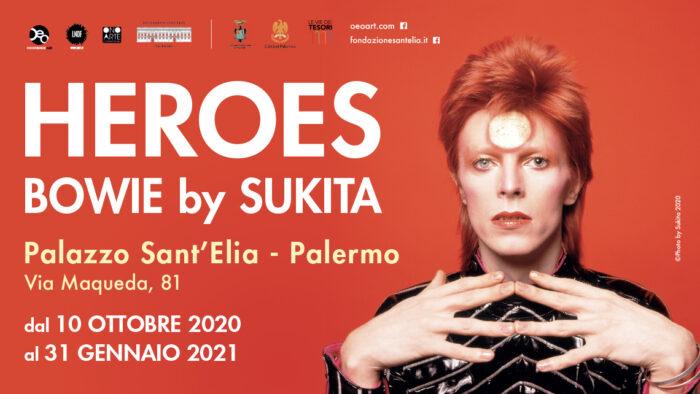Heroes Bowie by Sukita palazzo sant'Elia Palermo