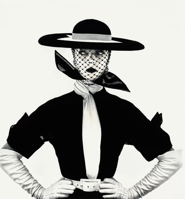 © Irving Penn Black and White Vogue Cover, 1950